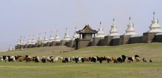 Buddhist monastery in mongolia stock photo