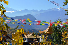Buddhist monastery in Muktinath, Nepal Royalty Free Stock Images