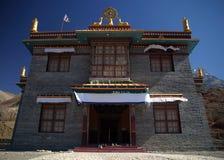 Buddhist monastery in Nepal. Near Tibet, Muktinath village Royalty Free Stock Image
