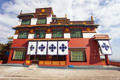 Buddhist Monastery in Pokhara town Stock Photography