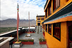 Buddhist monastery of Thikse Stock Images