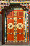 Buddhist monastry entrance door Royalty Free Stock Photos