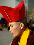 Buddhist Monk. A Buddhist Monk performing rituals during a program in Seto Gumba (Druk Amitabh Mountain)i.e. White Monastery in Kathmandu, Nepal stock images