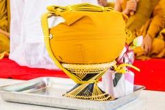 Buddhist monk alms-bowl in thailand, makha bucha day, visakha bu Royalty Free Stock Images