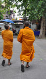Buddhist monk in Angkor Wat in Cambodia Stock Photos