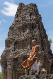 Buddhist monk Angkor Wat, Cambodia Royalty Free Stock Images