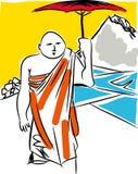 Buddhist monk. royalty free illustration