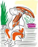 Buddhist monk. vector illustration