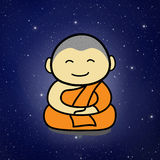 Buddhist Monk cartoon Royalty Free Stock Photos