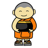Buddhist Monk cartoon Royalty Free Stock Image