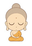 Buddhist Monk cartoon Royalty Free Stock Photography