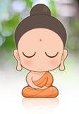 Buddhist Monk cartoon Royalty Free Stock Images