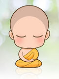 Buddhist Monk cartoon Royalty Free Stock Image