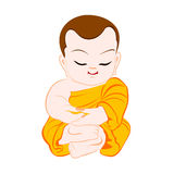 Buddhist Monk cartoon Royalty Free Stock Photography