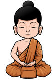 Buddhist Monk cartoon Stock Photo