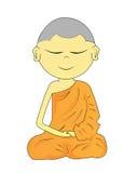 Buddhist Monk cartoon Stock Photo