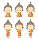 Buddhist Monk Character Design Royalty Free Stock Image