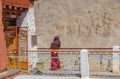 Buddhist monk in Chemday Monastery, Jamu Kashmir royalty free stock photography