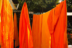 Buddhist monk cloths drying Stock Photo