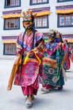 Buddhist monk dancing Cham mystery in Lamayuru, India Royalty Free Stock Image
