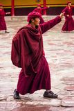 Buddhist Monk Dancing stock photo