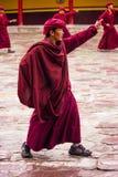 Buddhist Monk Dancing Stock Photo