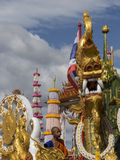 Buddhist monk on a decorated float, Trang, Thailand Stock Images