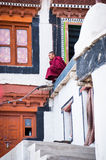 Buddhist monk from Diskit monastery. India Stock Images