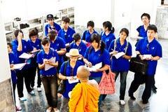 Buddhist monk explains the secrets Stock Image