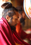 Buddhist monk, Ladakh Stock Image