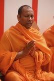 A Buddhist monk meditating Royalty Free Stock Image