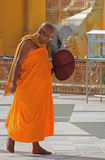 Buddhist Monk. A Buddhist monk at a monastery in Myanmar Feb 2015 No model release Editorial use only Stock Photo