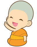 Buddhist. Monk ,  Monk illustration Royalty Free Stock Image