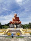 Buddhist monk monument in Thailand royalty free stock images