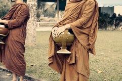 Buddhist monk on morning Royalty Free Stock Image
