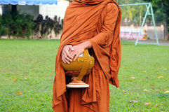 Buddhist monk on morning Royalty Free Stock Photography