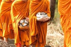 Buddhist monk on morning Stock Photos