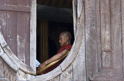 Buddhist Monk in Myanmar (Burma) Royalty Free Stock Images