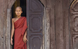 Buddhist Monk in Myanmar (Burma) Royalty Free Stock Image