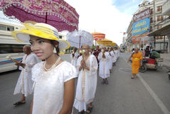 Buddhist Monk Ordination In Thailand stock image