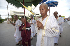 Buddhist Monk Ordination In Thailand Stock Photos