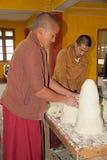 Buddhist monk at the Phodong Monastery, Gangtok, Sikkim, India Stock Photo