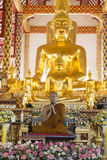 Buddhist monk preach in temple. Chiang Mai, Thailand - August 28, 2016: buddhist monk preach at Suandok temple royalty free stock images