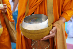 Buddhist monk's alms bowl Stock Photography
