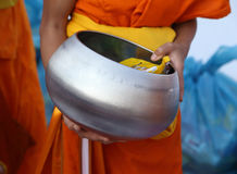 Buddhist monk's alms bowl Stock Images