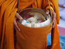 Buddhist monk's alms bowl Royalty Free Stock Image
