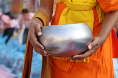 Buddhist monk's alms bowl Stock Image