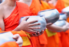 Buddhist monk's alms bowl, thailand Royalty Free Stock Photos