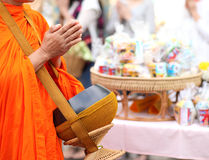 Buddhist monk's alms bowl, thailand Royalty Free Stock Image