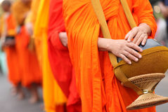 Buddhist monk's alms bowl, thailand.  royalty free stock photography